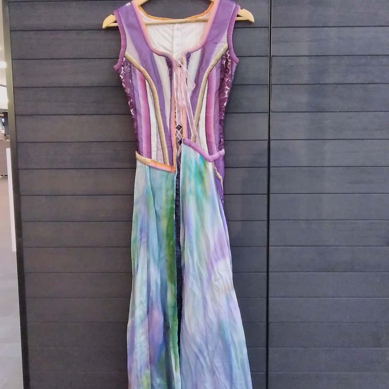 Ladies Handmade Multi-coloured Fantasy Maxi Dress S/P