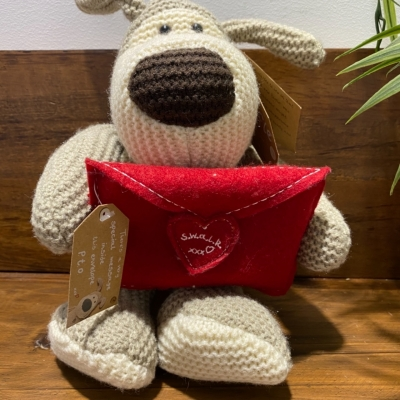BOOFLE VALENTINES BEAR WITH LOVE LETTER