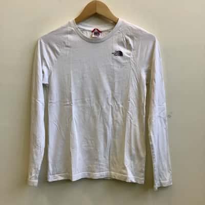 The North Face Kids Size L/G  Raglan Sleeve White T-Shirt