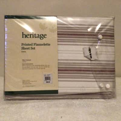 BNWT MYER HERITAGE SINGLE BED PRINTED FLANNELETTE RRP SHEET SET  RRP $89.95