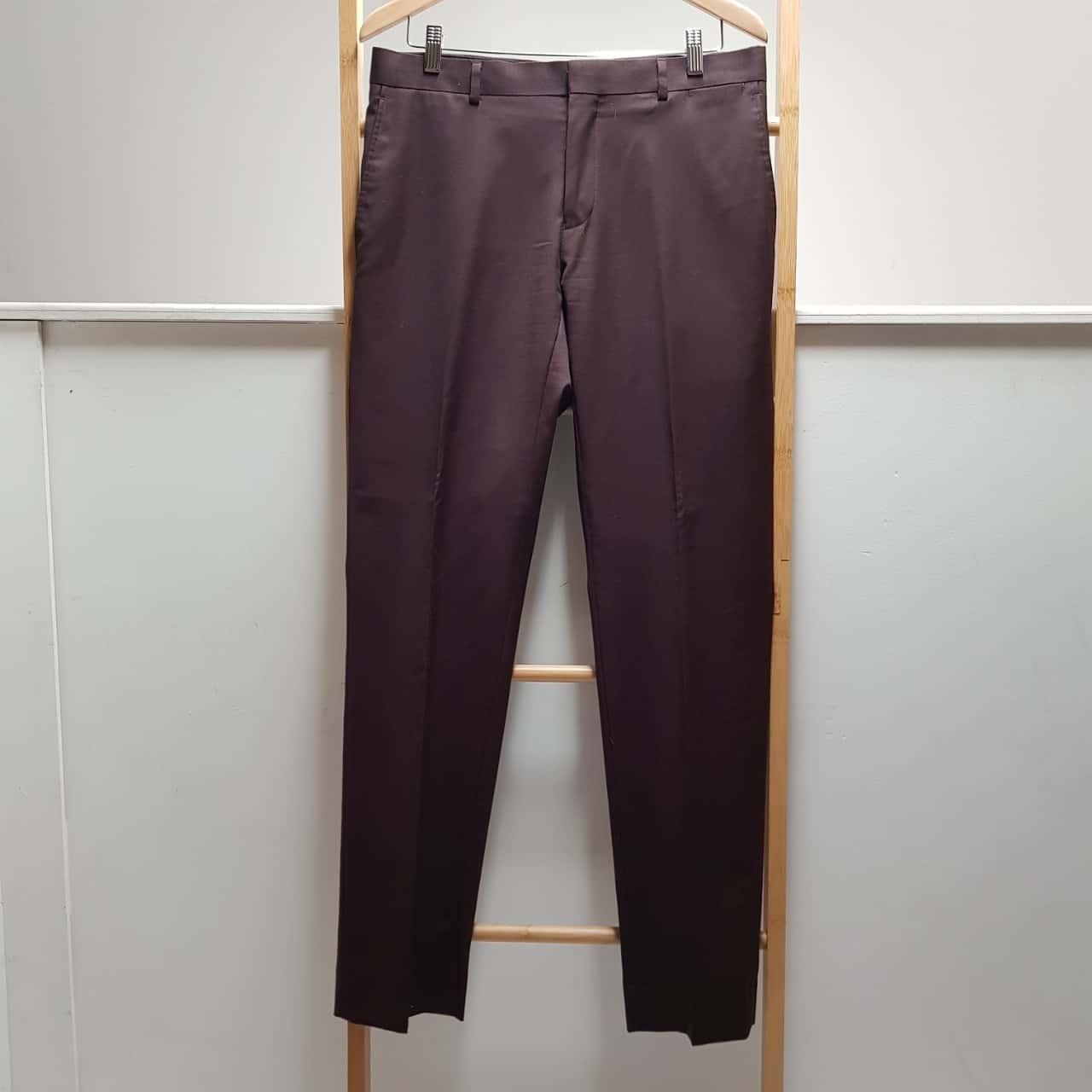 Bossini Mens Dress Pants Maroon Size 84 Regular