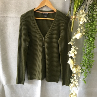 Lord & Taylor Womens Cardigans Size L Green