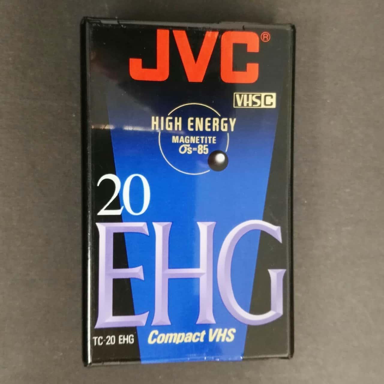 JVC VHS-C EHG 20 Video Tape - New - Compact VHS