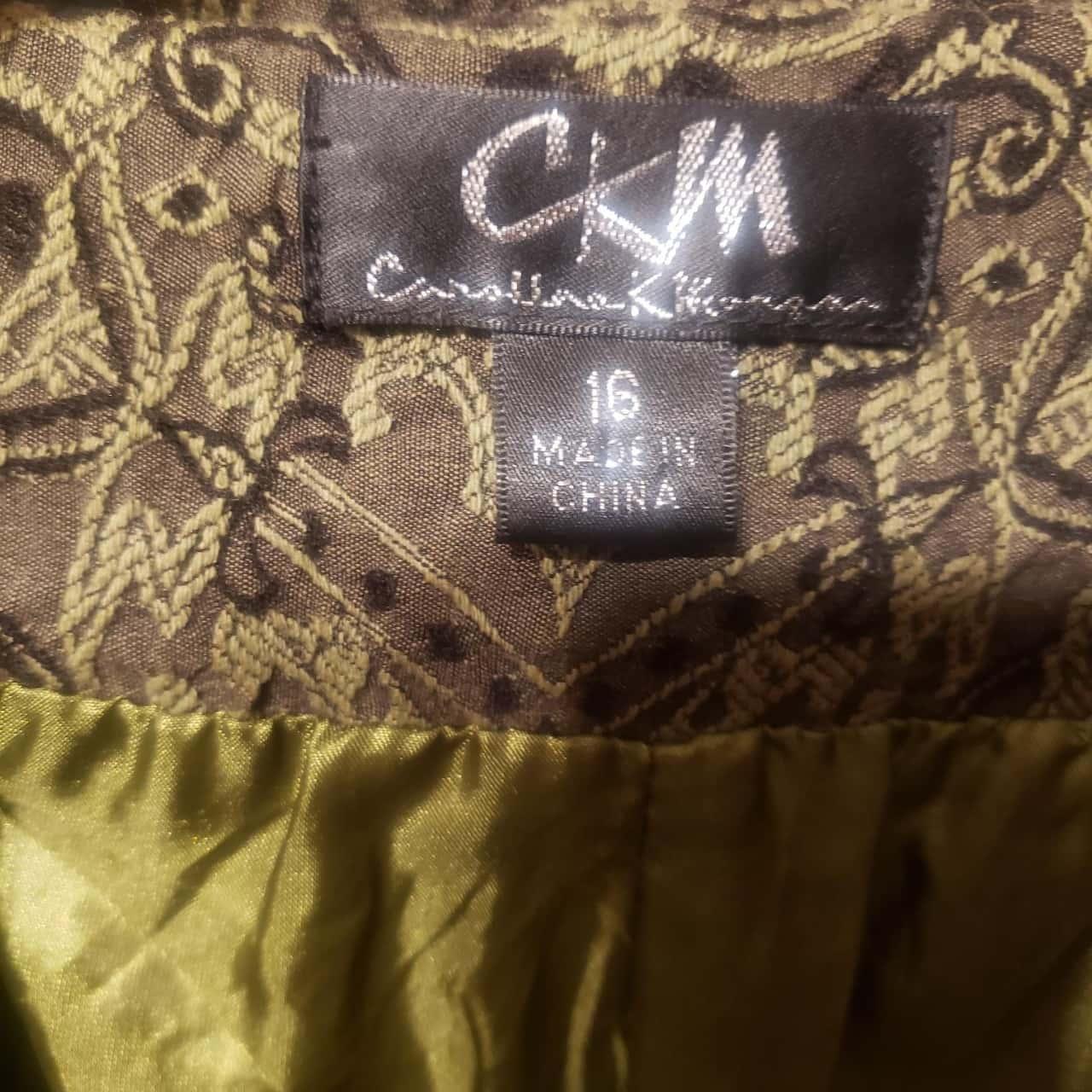 Caroline Morgan Womens  Size 16 Green- Floral patterned Coat