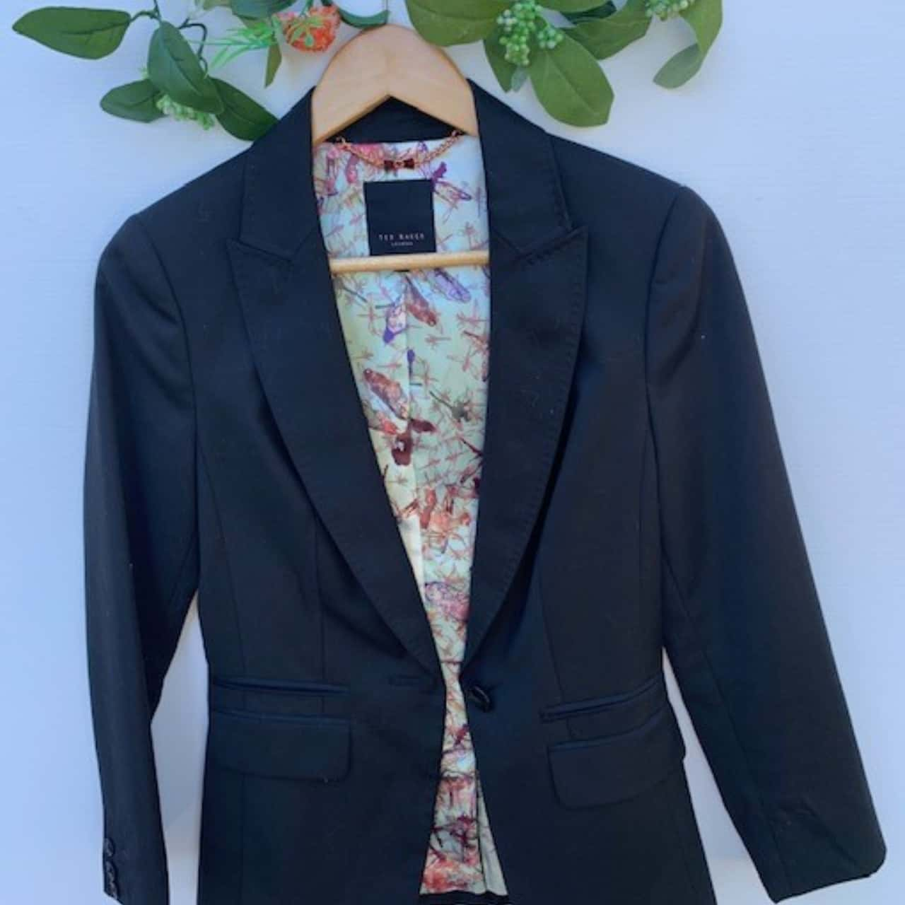 Ted Baker Womens Suit Black /Blue/Multicoloured