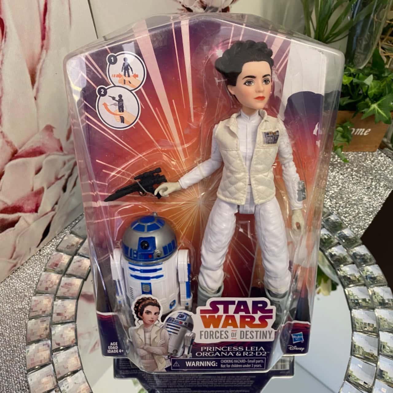 "STAR WARS FORCES OF DESTINY PRINCESS LEIA ORGANA & R2-D2 12"" ACTION FIGURE"