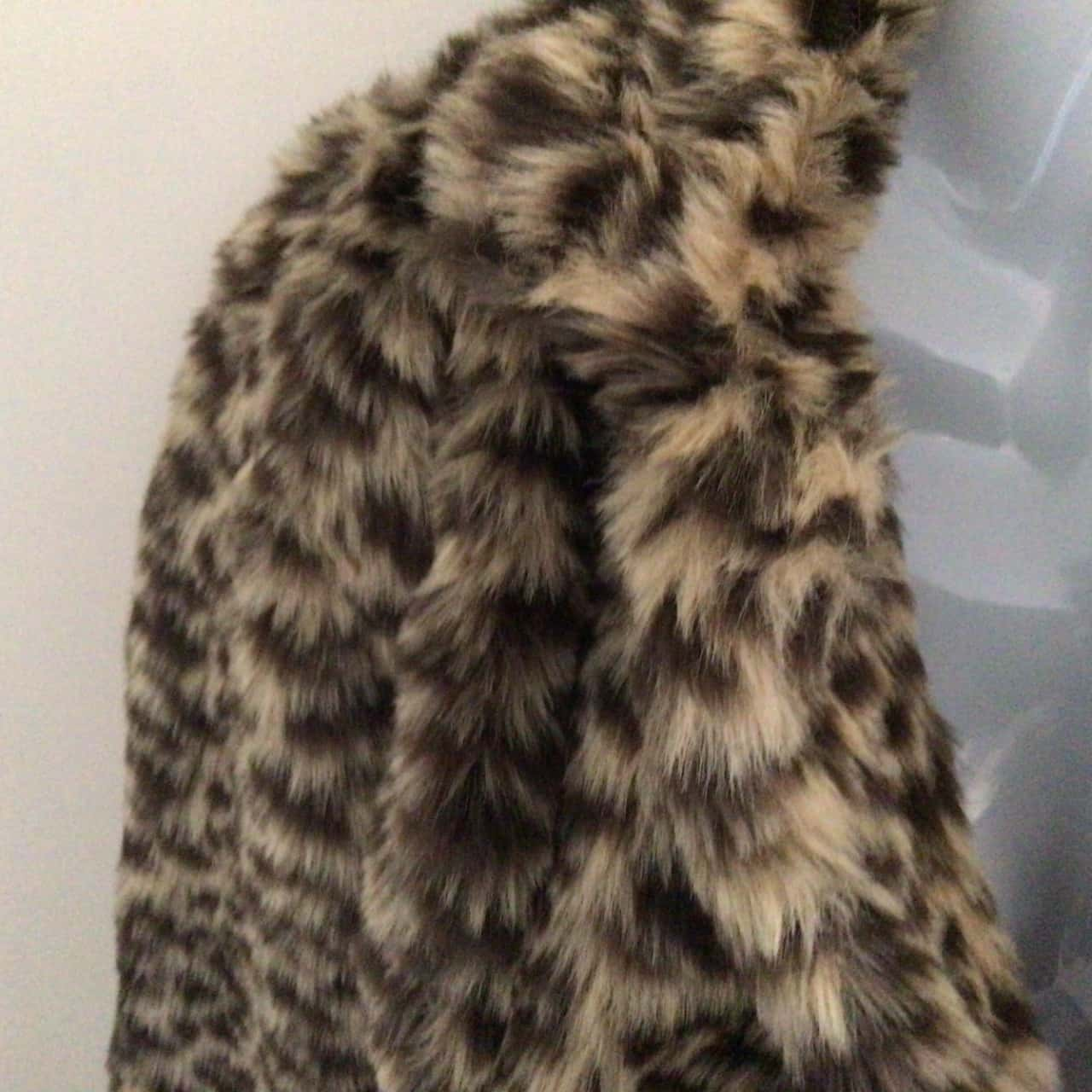 Womens NEXT FAUX FUR JACKET LEOPARD PRINT Size 10 RRP $125 (F£70)