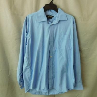 ****EOFYS**** Trent Nathan Men's Blue Long Sleeved Business Shirt Size 41 UAF.