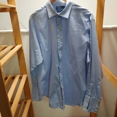 Polo Ralph Lauren Men's Blue Long Sleeve Shirt Size 34