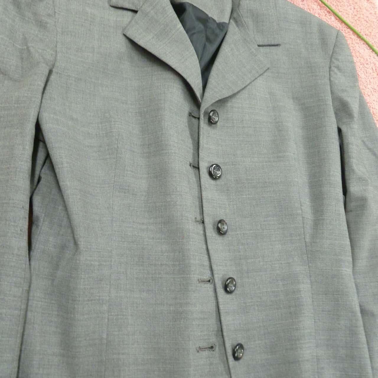 Pierucci, Women's Grey Blazer, Size 10, 97% WOOL