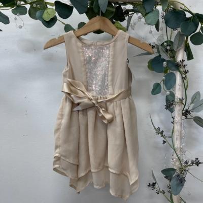 Origami Kids  Size 0 Dress Cream sequin