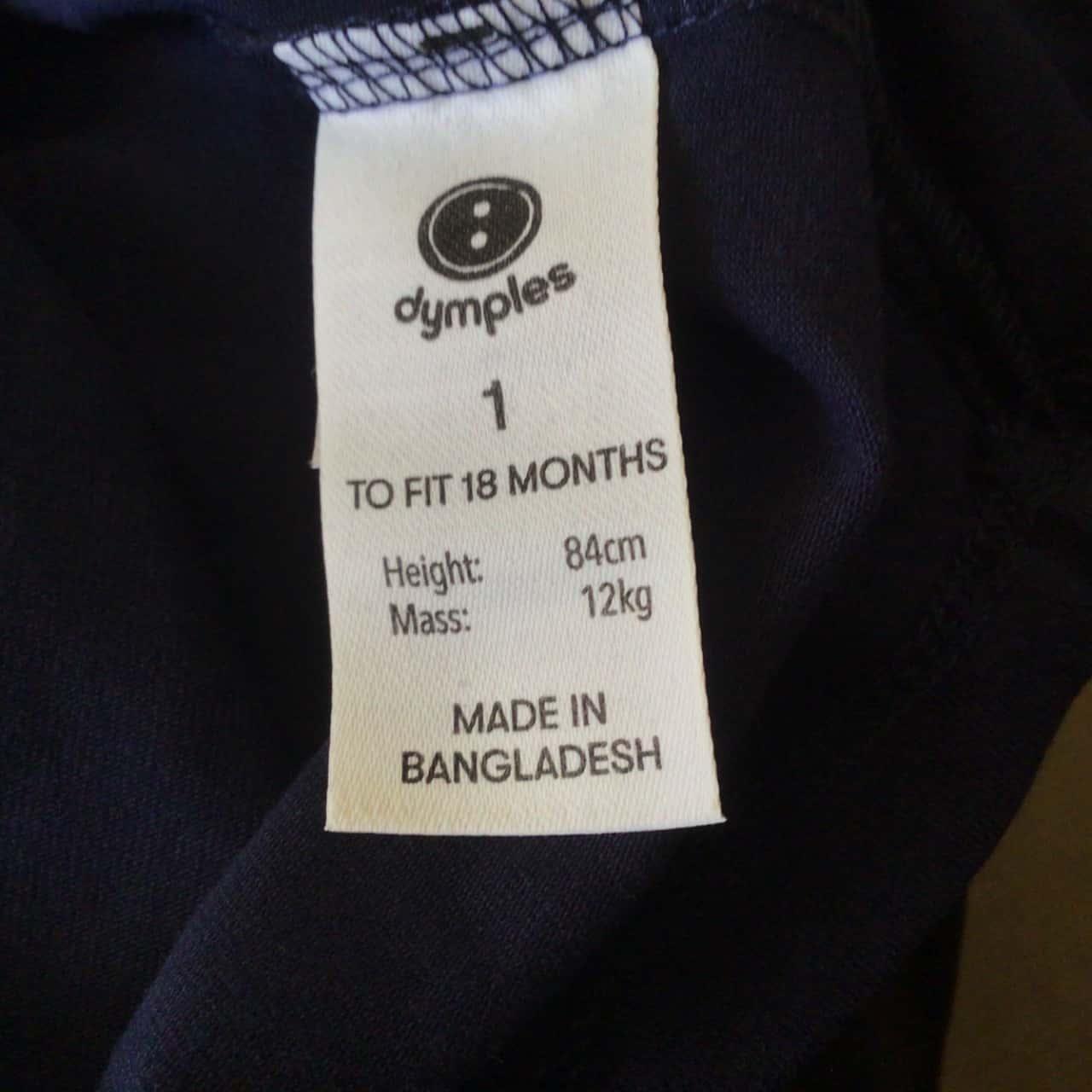BNWT Toddler Girls DYMPLES NAVY T SHIRT  Size 1 RRP $20