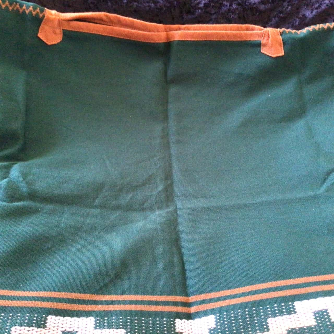 Womens VINTAGE NATIVE AMERICAN  STYLE PONCHO Green