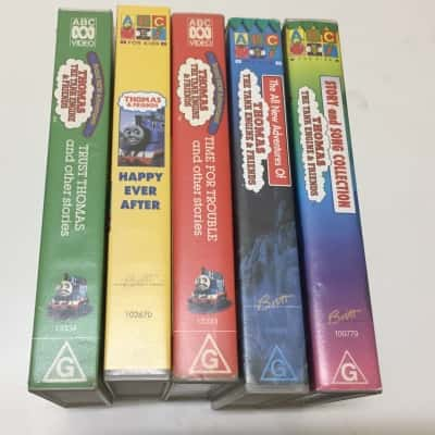 Thomas the Tank Engine VHS tapes, set of 5