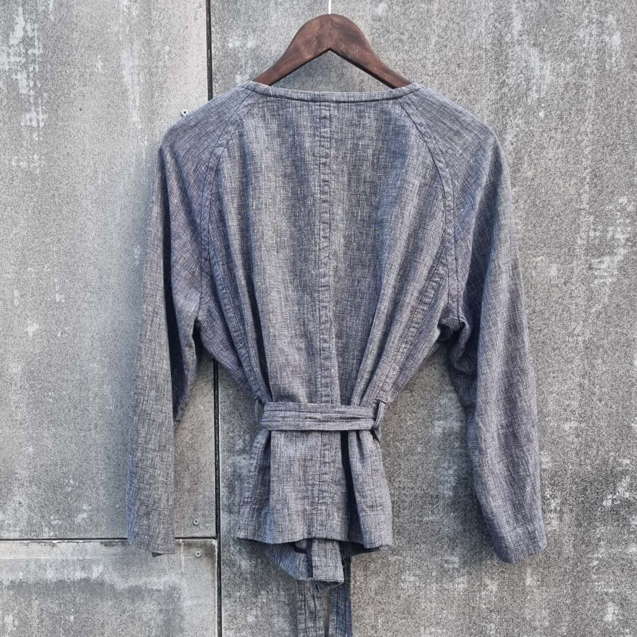 *REDUCED* Trenery Linen/Cotton Blend Tie Up Jacket - Size 14