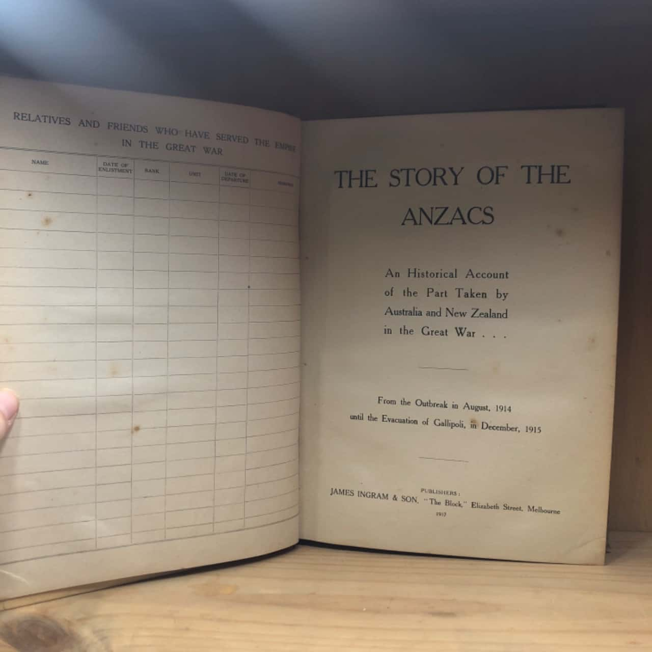 The story of the anzacs published 1917