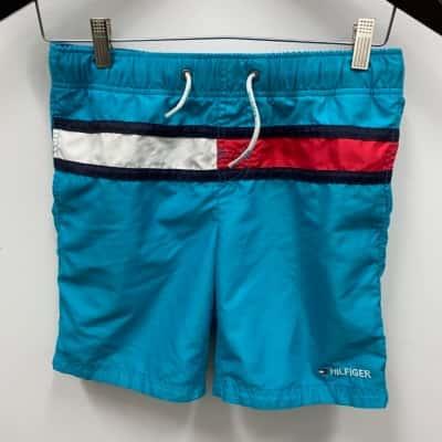 TOMMY HILFIGER Kids Board Shorts Size Boys 12/13 Blue