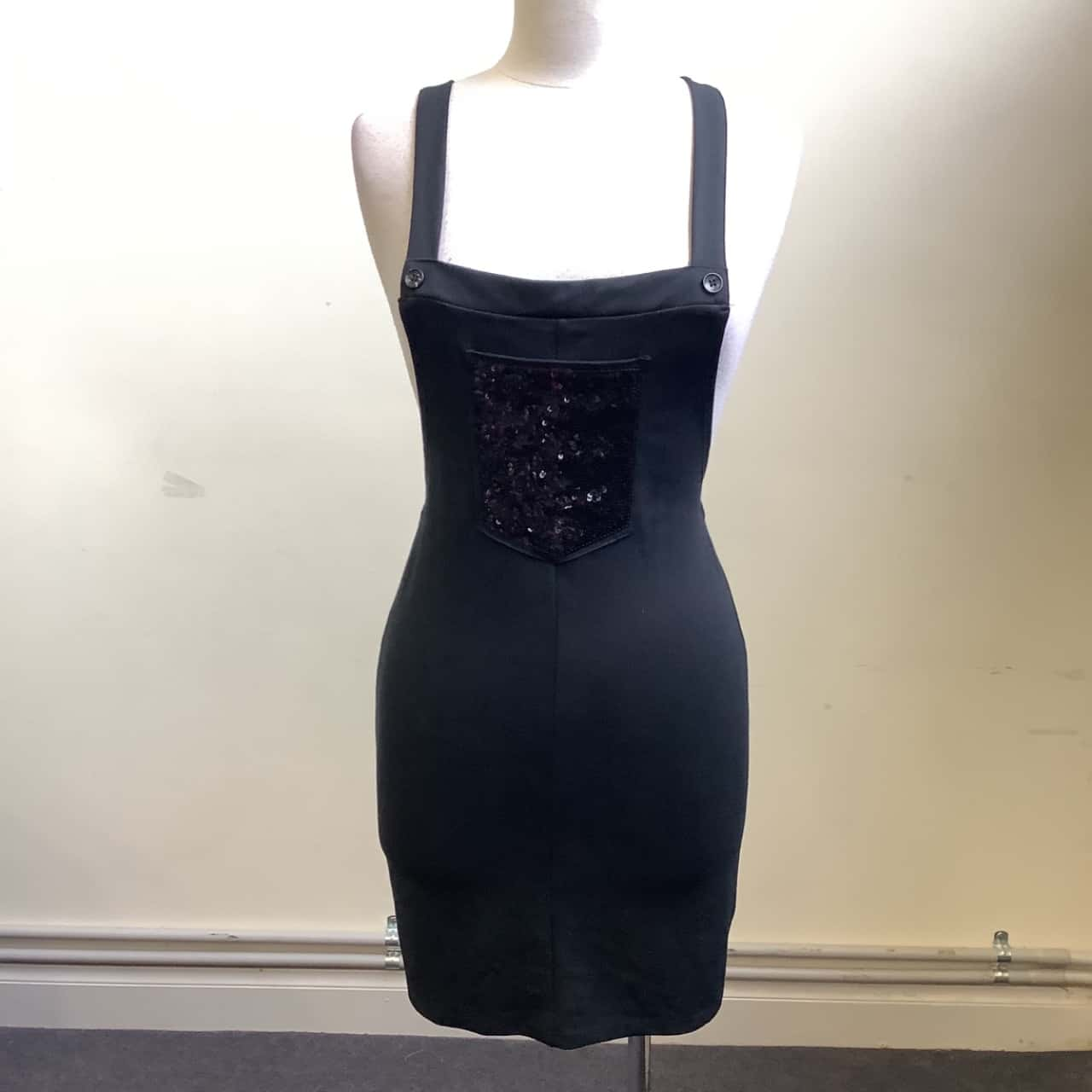 George Girls Size 11/12 Black Sequins Pinafore