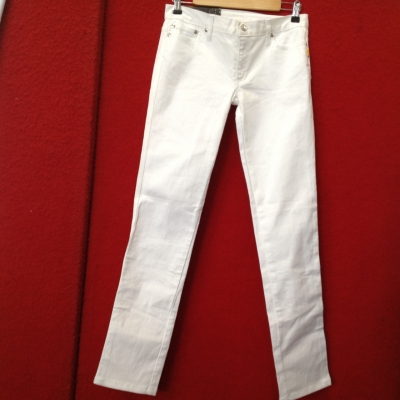 Womens  Size 28 Straight Jeans White