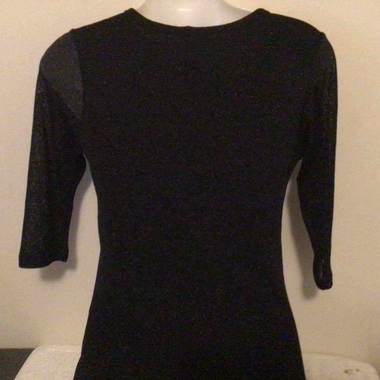 MATERNITY Womens RIPE MATERNITY FORMAL BLACK SHIMMER (SilverFlecks) DRESS  Size S Midi Dress