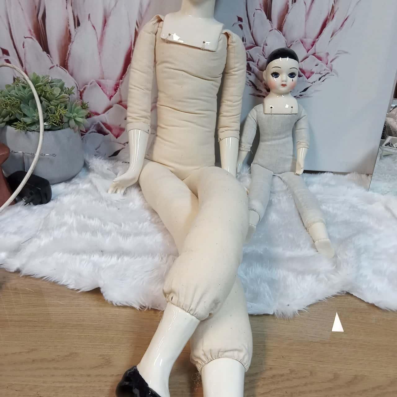 Porcelain and Rag Clown Dolls