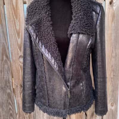 RJwear Woman's black Size 12 Open Jacket