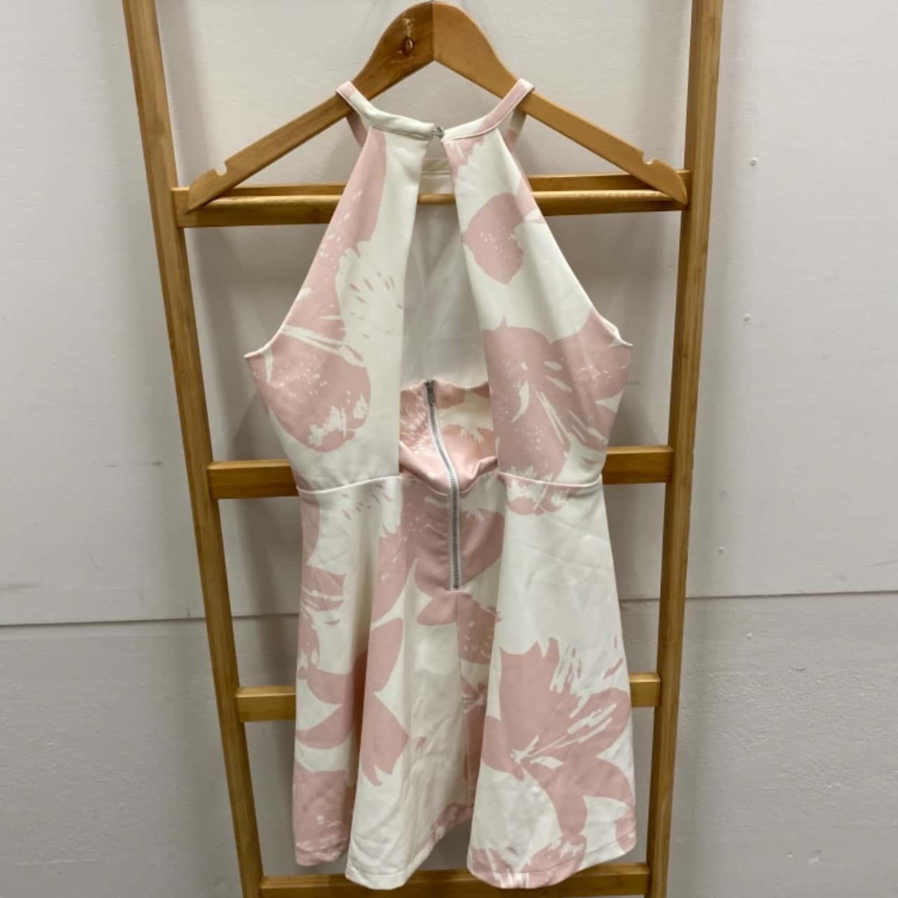 Bardot Junior Girls Size 12 Pink/White Dress