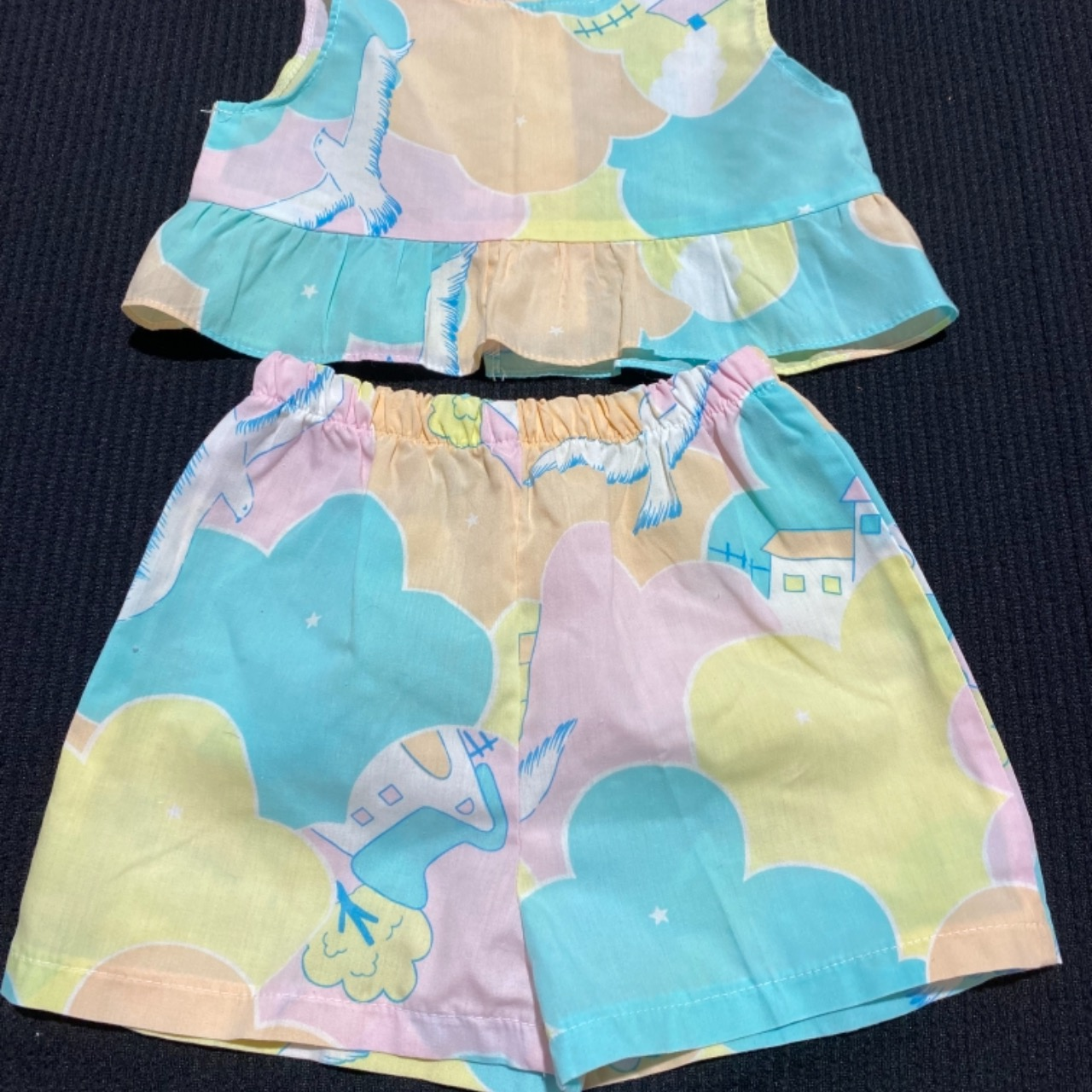 Baby SUMMER TWIN SET SIZE 1 Pastel colours Blue/ Orange/Pink /White/YellowMADE I AUSTRALIA