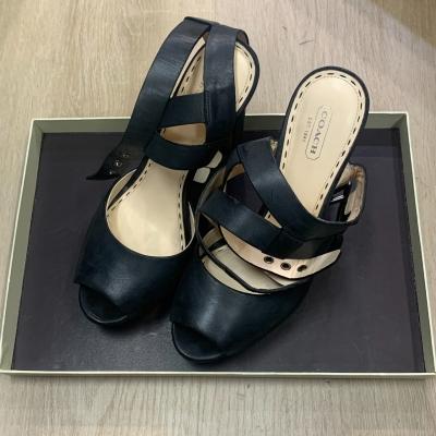 COACH Womens Size 9.5 Black Peeptoe Heels
