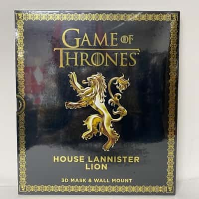 HBO 2017 Game of Thrones. 3D mask and wallmount. House Lannister Lion