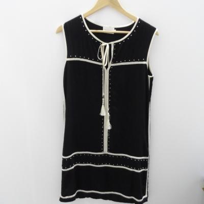 FLANNEL Womens Fannel Size 1 Midi Dress Black /White