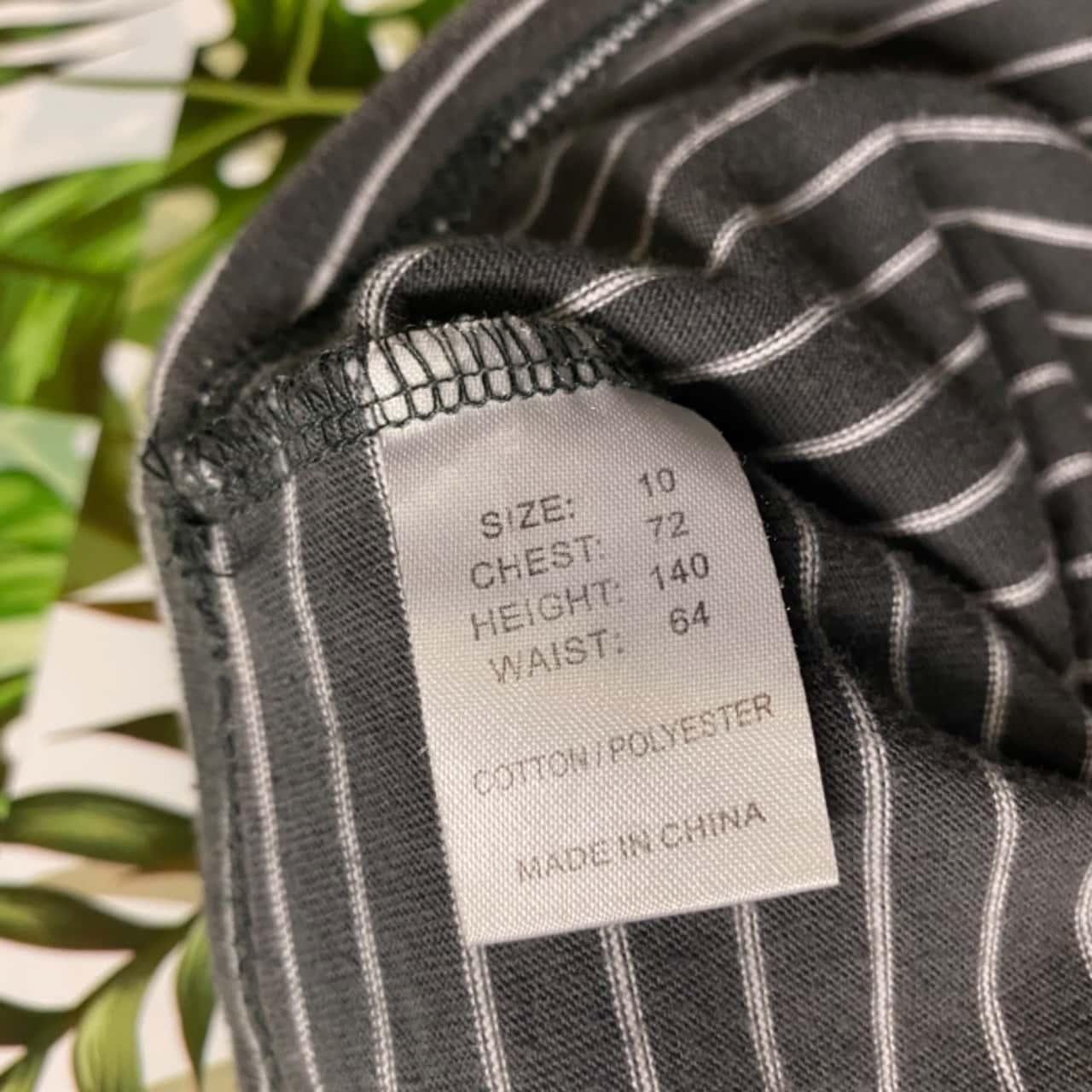 Candy Stripe Australia Kids Size 10 Tops & T-shirts Grey/Striped/White