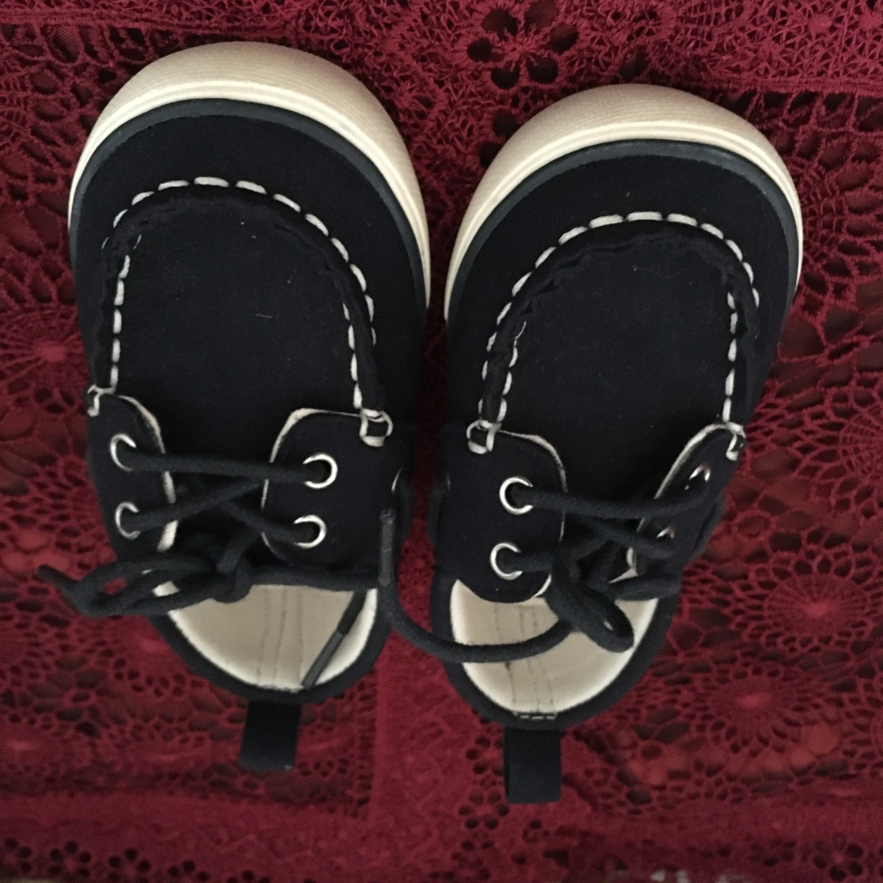 Country Road Toddler / Kids  Size 22 Black Boat Shoes