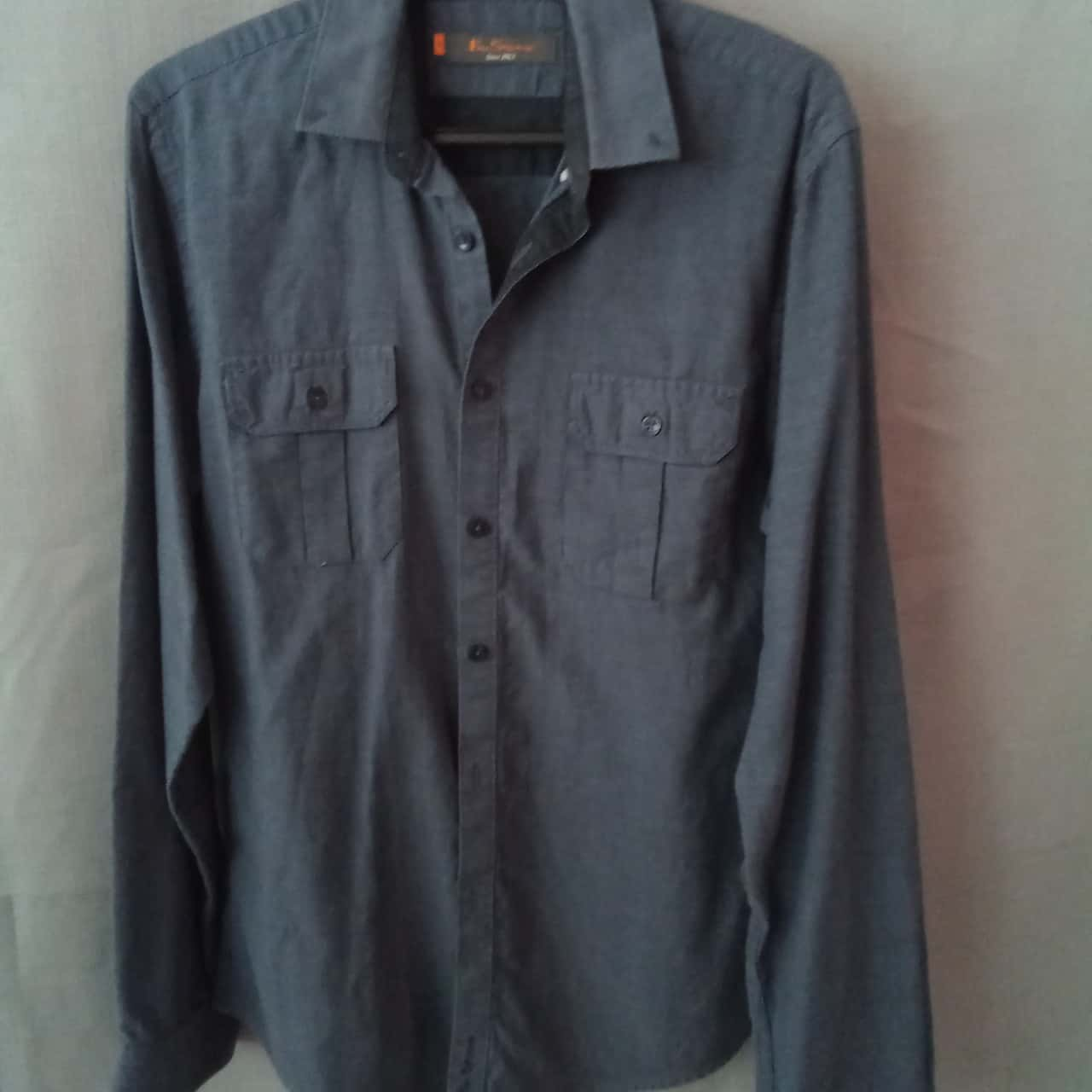 REDUCED WAS $12 NOW $5 Ben Sherman Mens Blue Small Grid Shirt Size M