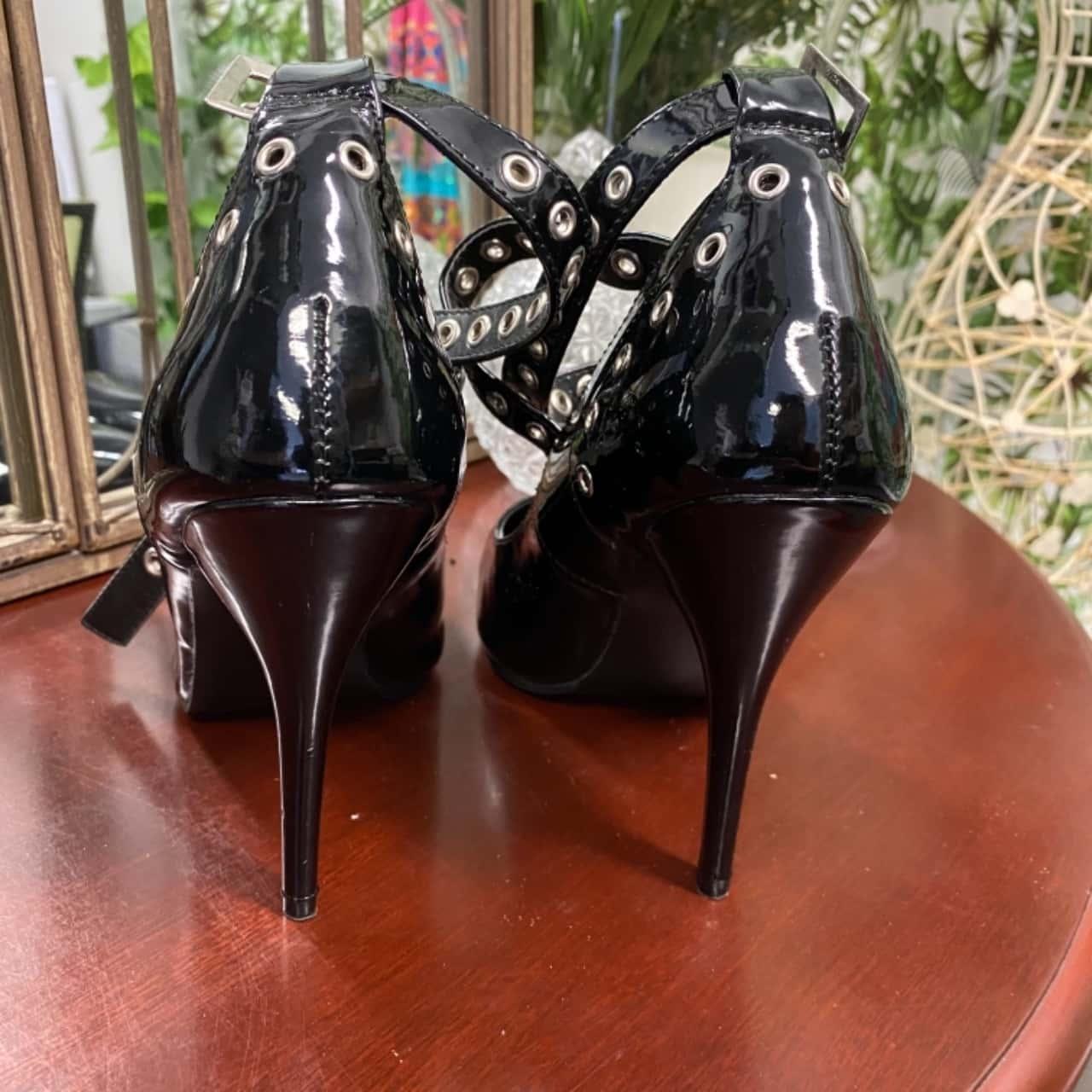 Pleaser Women's Stiletto Heels  Size 8/8.5 Black  Seduce