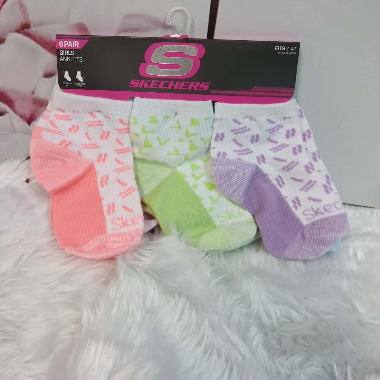 Girls Skechers Socks Multicoloured sz 2-4 anklet