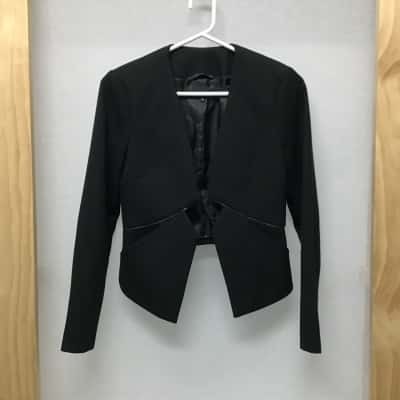 French Connection, Black open jacket, size 8