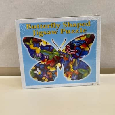 Butterfly Shaped 1000pc Jigsaw Puzzle-New In Packaging