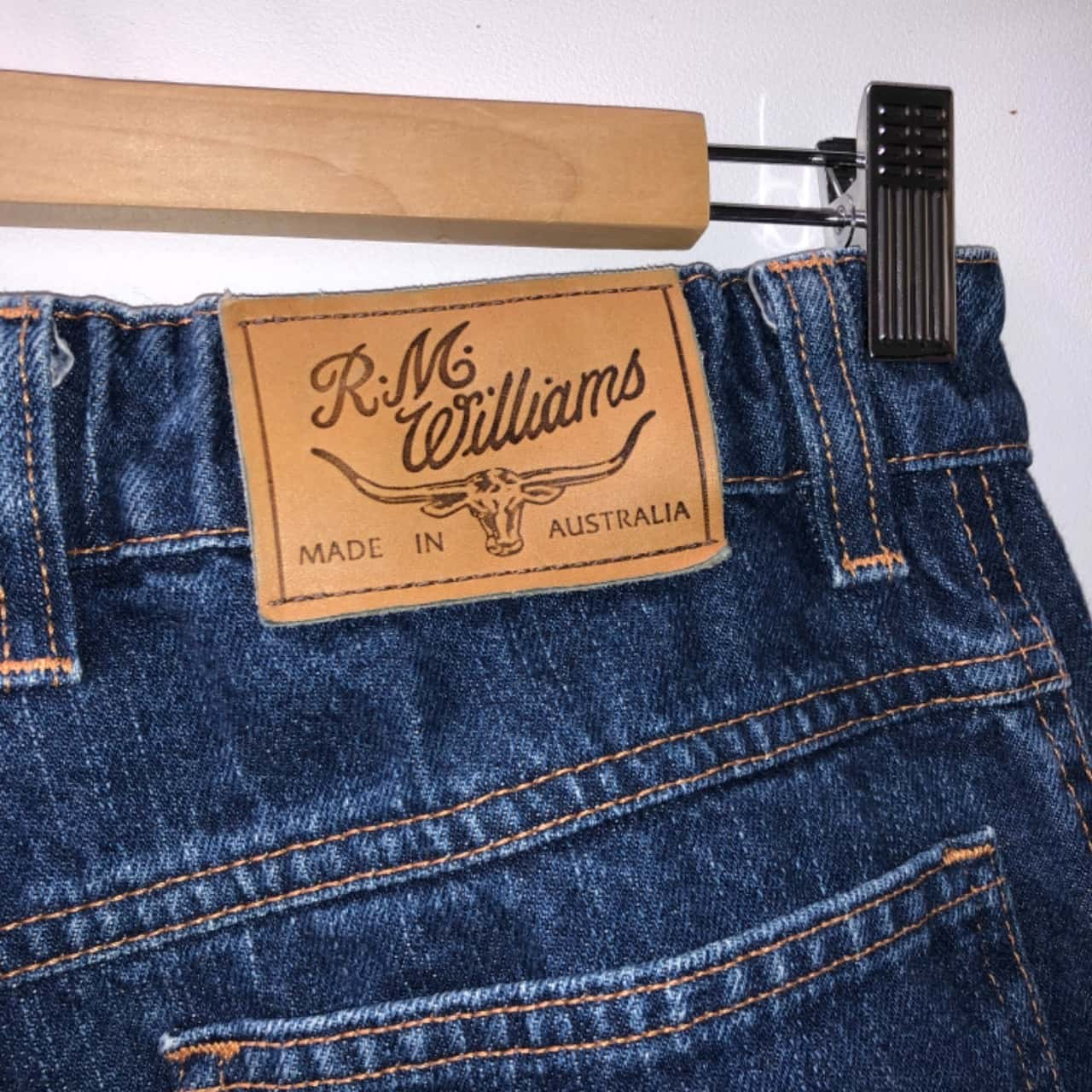 R.M.Williams Mens  Size 30 Relaxed Fit Jeans Blue