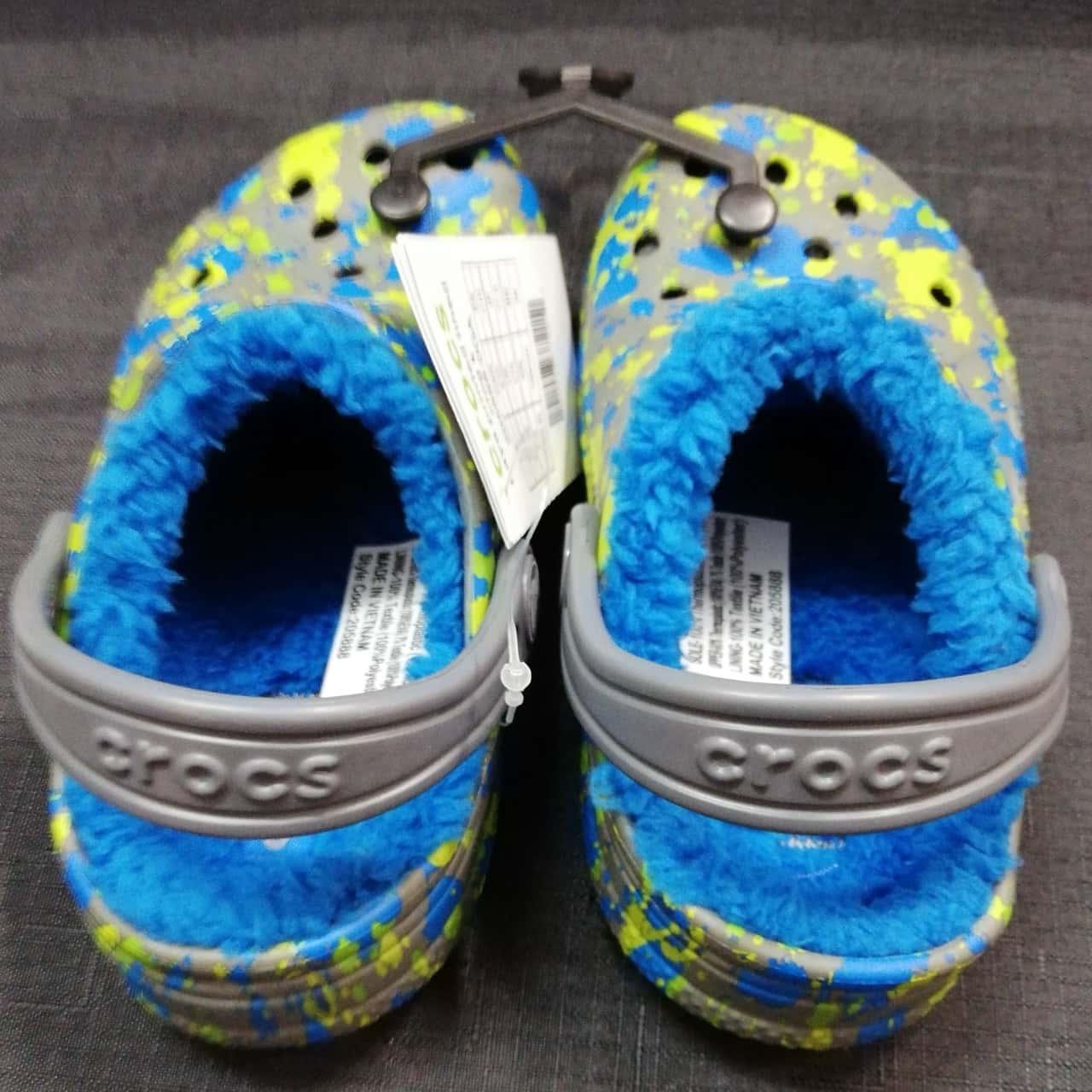 Crocs Kids Baya Lined Clogs SIZE 10 New