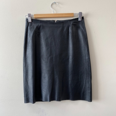 Kahlo Women's Size XS Black Leather Skirt