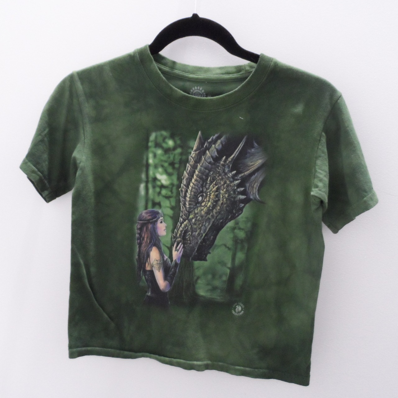 Childrens Anne Stokes Dragon Print T-Shirt, Child Size M