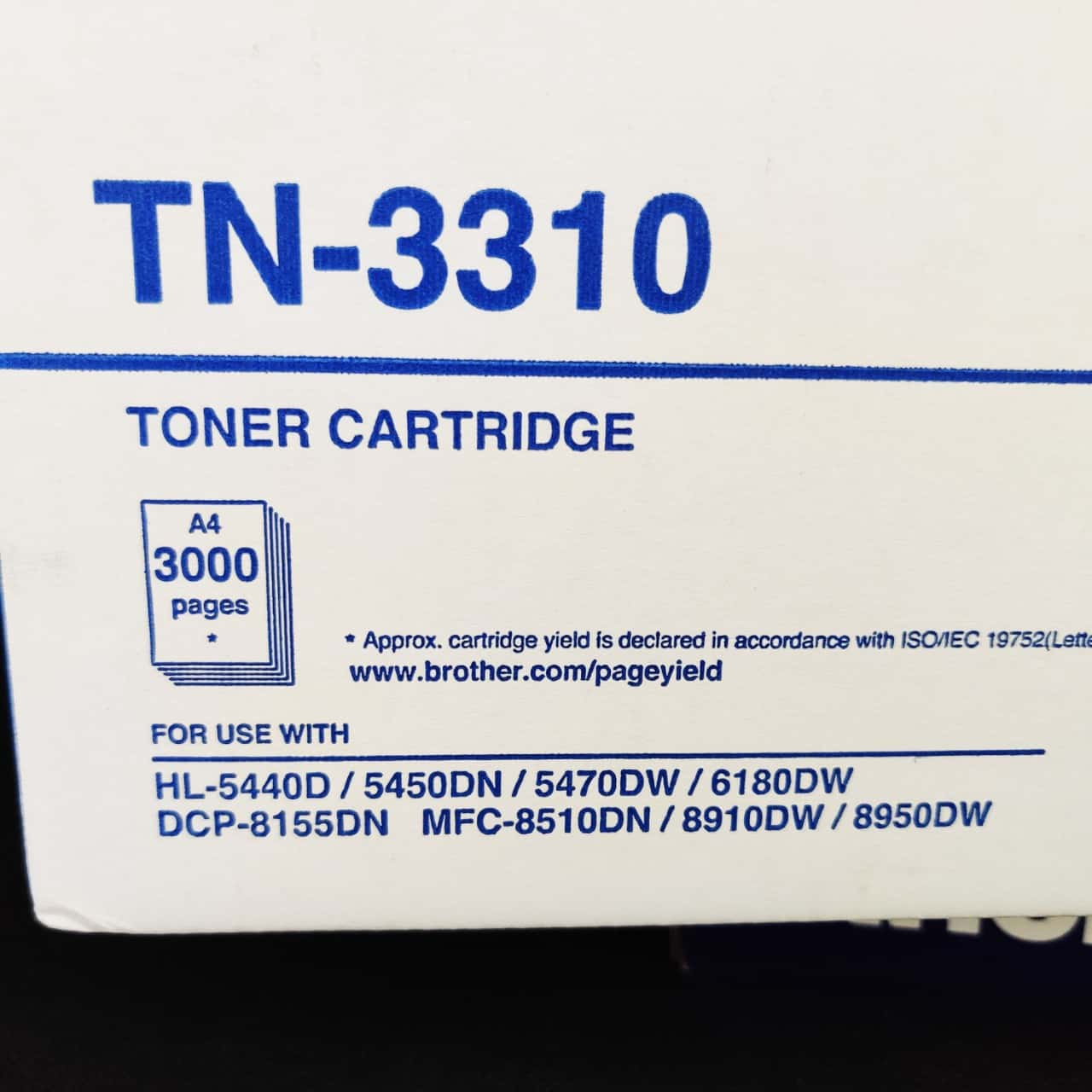 Brother TN-3310 Toner Cartridge for Brother Printers as per list on photo