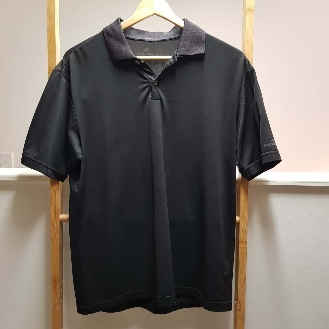 Kathmandu Mens Short Sleeve Shirt Black Size M