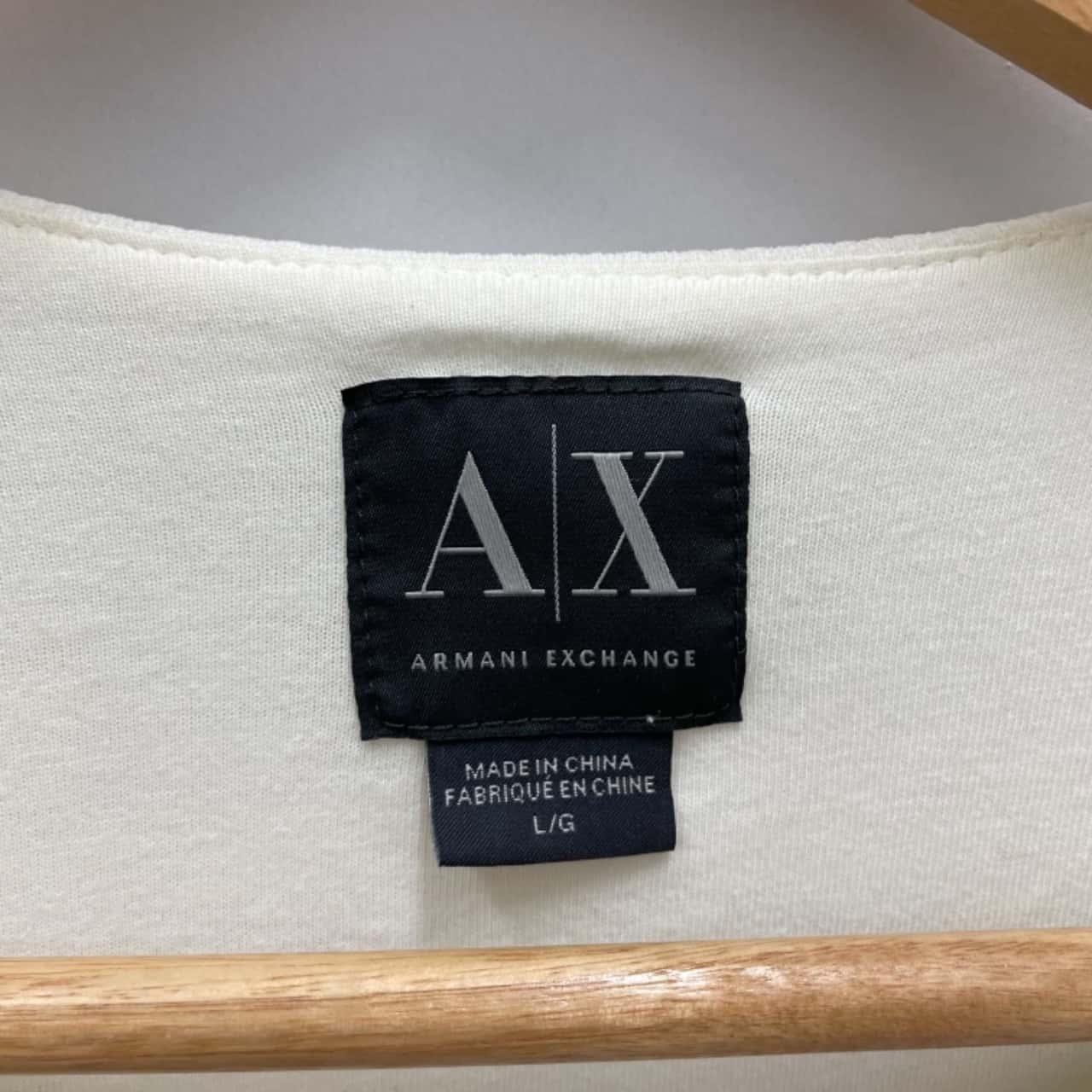 ARMANI EXCHANGE Womens Size L Biker Style Jacket Cream