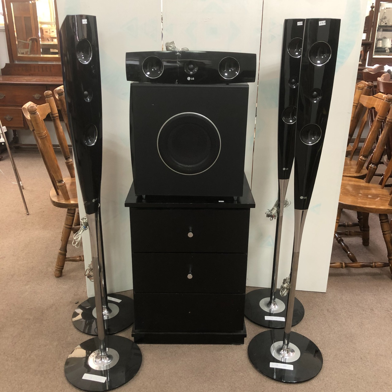 LG Sub woofer and 5 Speakers