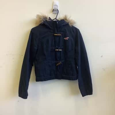 Hollister Kids  Size M Jacket Navy Blue/Brown