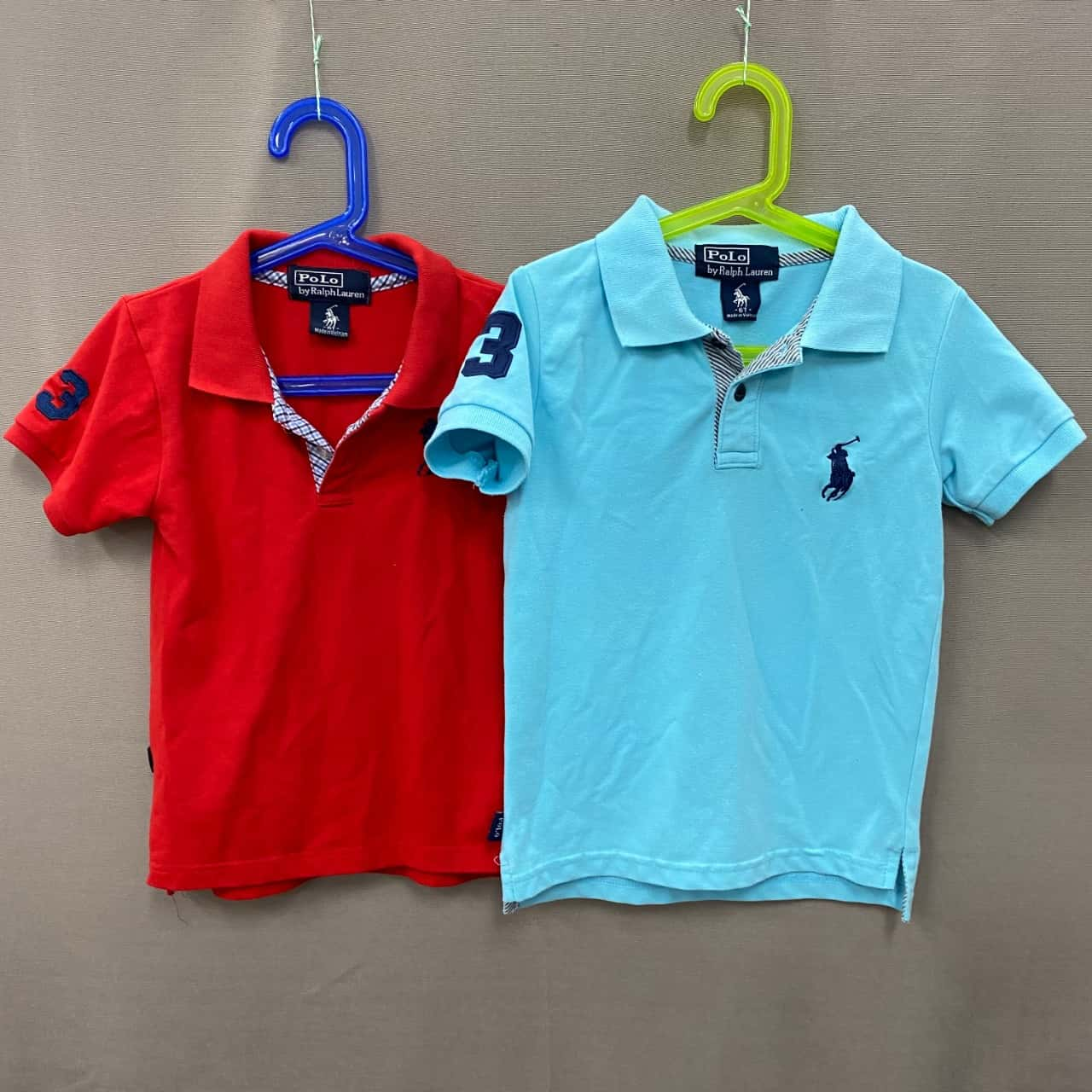 Polo Ralph Lauren Kids Polo Pair Size 6 Blue/Red