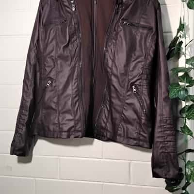 Womens  Size M Bomber Jacket Brown South Side Serpents Riverdale