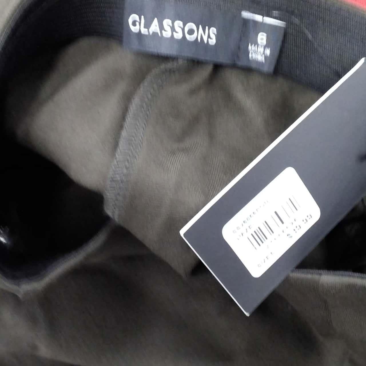 Womens  GLASSONS MINI SKIRT Size 6 A-Line Khaki Green